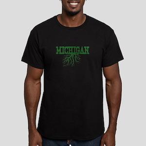 Michigan Roots Men's Fitted T-Shirt (dark)