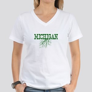 Michigan Roots Women's V-Neck T-Shirt