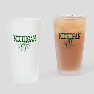 Michigan Roots Drinking Glass