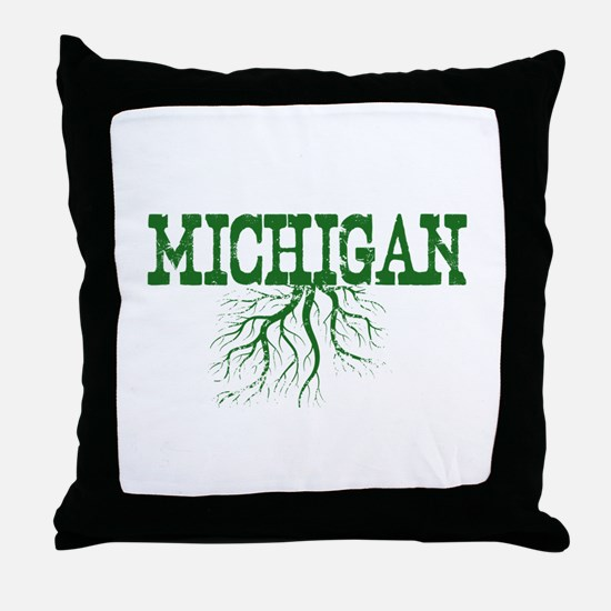 Michigan Roots Throw Pillow