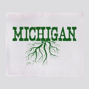 Michigan Roots Throw Blanket