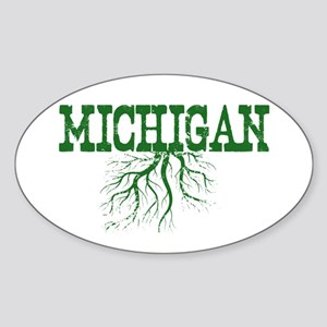 Michigan Roots Sticker (Oval)