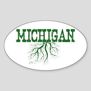 Michigan Roots Sticker (Oval)
