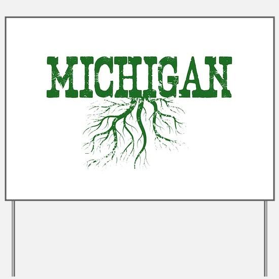 Michigan Roots Yard Sign