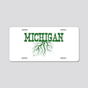Michigan Roots Aluminum License Plate