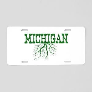 Michigan Roots Aluminum License Plate