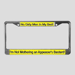 "George Bush ""No Girly Men"" License Plate Frame"