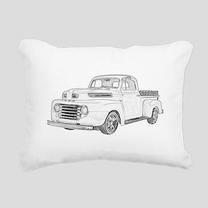 1950 Ford F1 Rectangular Canvas Pillow