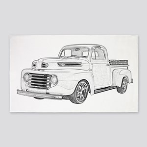 1950 Ford F1 3'x5' Area Rug