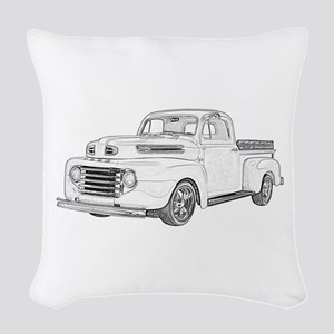 1950 Ford F1 Woven Throw Pillow