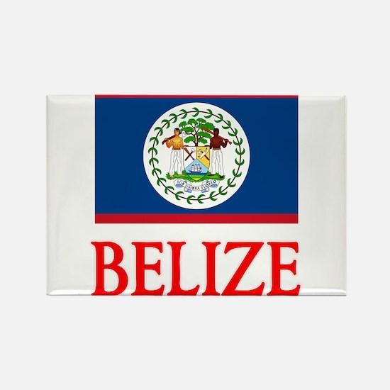 Belize Flag Design Magnets