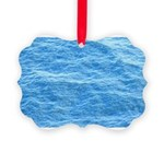 Ocean Surface Blue Sq Ornament