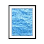 Ocean Surface Blue Sq Framed Panel Print