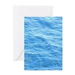Ocean Surface Blue Sq Greeting Cards