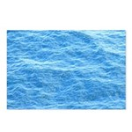 Ocean Surface Blue Sq Postcards (Package of 8)