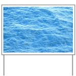 Ocean Surface Blue Sq Yard Sign