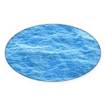 Ocean Surface Blue Sq Sticker