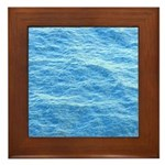 Ocean Surface Blue Sq Framed Tile