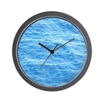 Ocean Surface Blue Sq Wall Clock