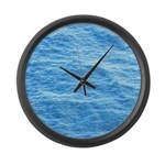 Ocean Surface Blue Sq Large Wall Clock