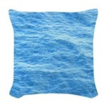Ocean Surface Blue Sq Woven Throw Pillow