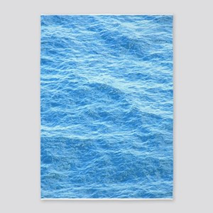 Ocean Surface Blue Sq 5'x7'Area Rug