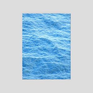 Ocean Surface Blue Sq 5'x7'Area Rug