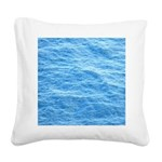 Ocean Surface Blue Sq Square Canvas Pillow