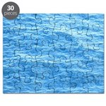 Ocean Surface Blue Sq Puzzle