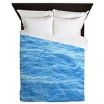 Ocean Surface Blue Sq Queen Duvet