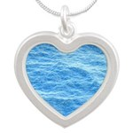 Ocean Surface Blue Sq Necklaces