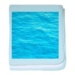Ocean Surface Blue Sq baby blanket