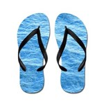 Ocean Surface Blue Sq Flip Flops