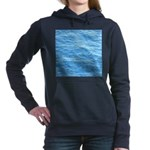 Ocean Surface Blue Sq Women's Hooded Sweatshirt