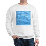 Ocean Surface Blue Sq Sweatshirt