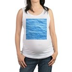 Ocean Surface Blue Sq Maternity Tank Top