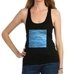 Ocean Surface Blue Sq Racerback Tank Top