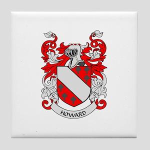 HOWARD Coat of Arms Tile Coaster