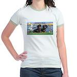 Sunrise Lilies / Doxie's Rule Jr. Ringer T-Shirt