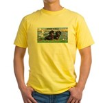 Sunrise Lilies / Doxie's Rule Yellow T-Shirt