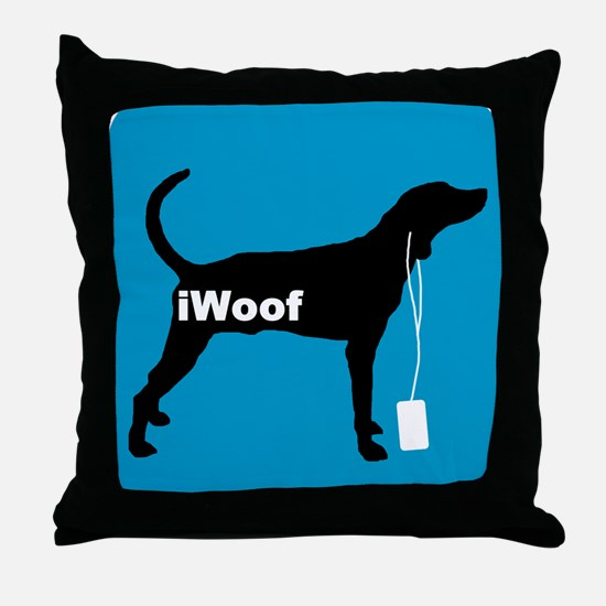 iWoof Plott Hound Throw Pillow