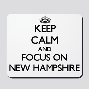 Keep Calm and focus on New Hampshire Mousepad