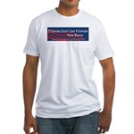 Vote Bush Fitted T-Shirt
