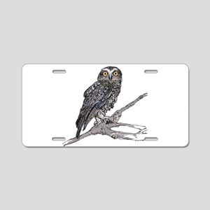 Southern Boobook Owl Aluminum License Plate