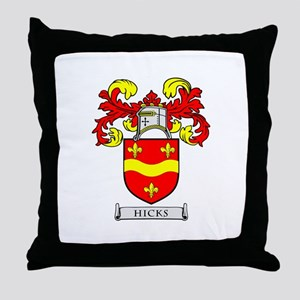 HICKS Coat of Arms Throw Pillow
