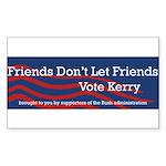 Vote Bush Rectangle Sticker