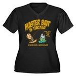 Master Bait Tackle Black Women's Plus Size V-Neck