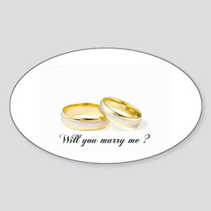 wedding bands Will you marry me? Sticker