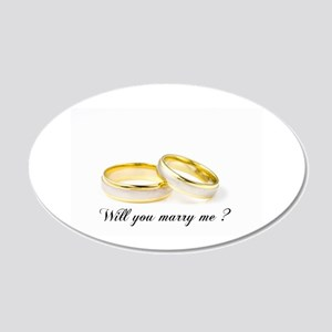 wedding bands Will you marry me? Wall Decal