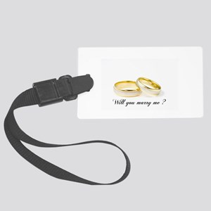 wedding bands Will you marry me? Luggage Tag